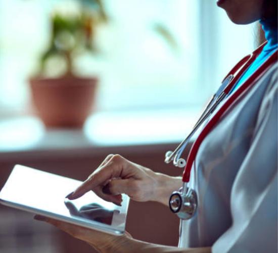 Nurse on iPad