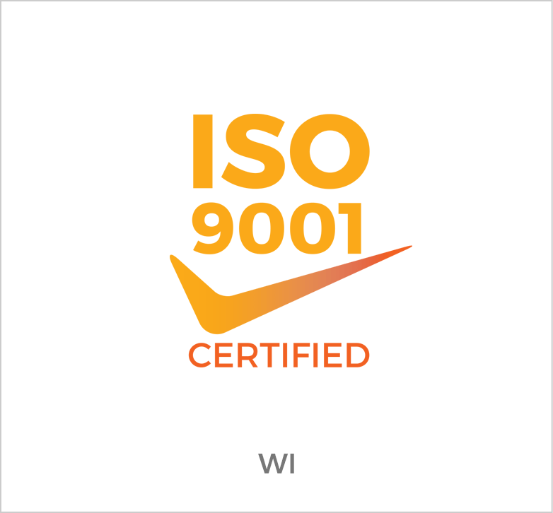 ISO 9001 Certified for Wisconsin