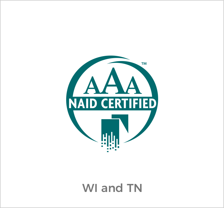 AAA Naid Certified for Wisconsin and Tennessee