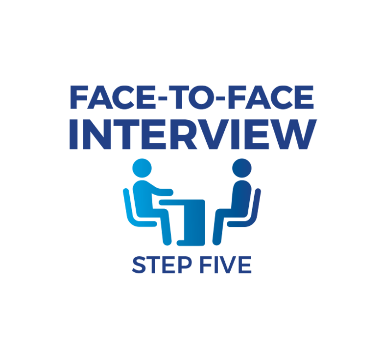 Step Five - Face-to-face Interview