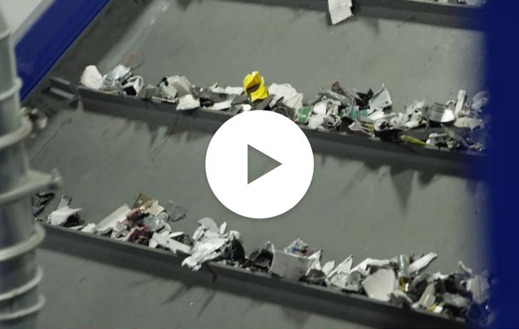 Conveyor belt transporting shrapnel.